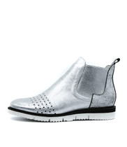 WALFI Ankle Boots in Silver/ Multi Leather