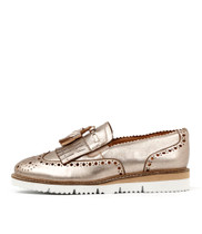 WATTLE Flatform Loafers in Champagne Wash Leather