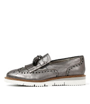 WATTLE Flatform Loafers in Pewter Wash Leather