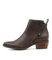 SANDERS Ankle Boots in Chocolate Leather