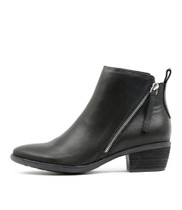 SANDERS Ankle Boots in Black Leather