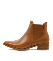 PANCHO Ankle Boots in Dark Tan Leather