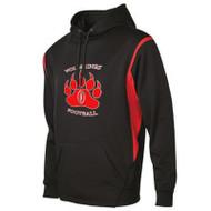 WMF ATC™ Adult Ptech Fleece VarCITY Hoodie - Black/Red