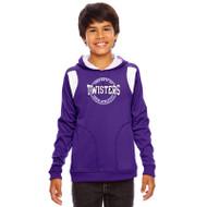 TCA Team 365 Youth Elite Performance Hoodie - Purple/White