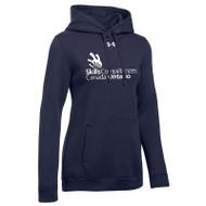 SON Under Armour Women's Hustle Fleece Hoodie - Navy