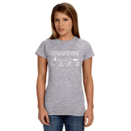 CLA Gildan Ladies' Softstyle Fitted T-Shirt - Sport Grey (CLA-033-GY)