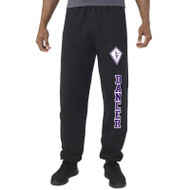 SCD Russell Adult Dri Power Closed Bottom Pant with Pockets - Black (SCD-013-BK)