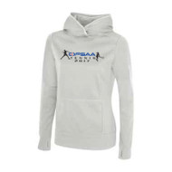 OFT ATC™ L2005 Game Day Fleece Hooded Ladies Sweatshirt - White
