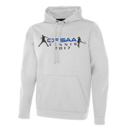 OFT ATC™ F2005 Game Day Fleece Hooded Mens Sweatshirt - White