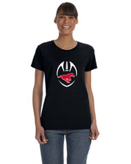 BMFA Gildan Heavy Cotton Ladies Tshirt 8.8OZ - Black