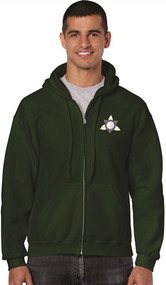 Ontario District - Gildan Adult Full Zip Hoody - Forest