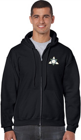 Ontario District - Gildan Adult Full Zip Hoody - Black