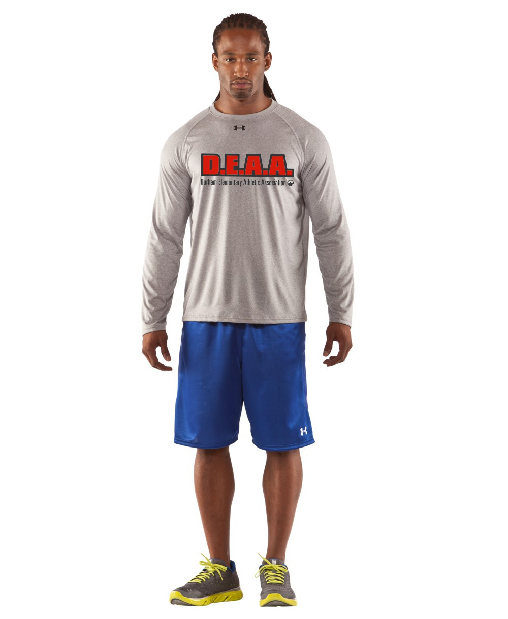 Deaa under armour men 39 s long sleeves locker t shirt grey for Men s ua locker long sleeve t shirt