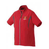AJX Women's Powell Short Sleeve Half Zip Windshirt - Team Red/Grey Storm