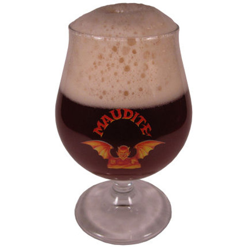 Unibroue Maudite Beer Glass Approx 12oz