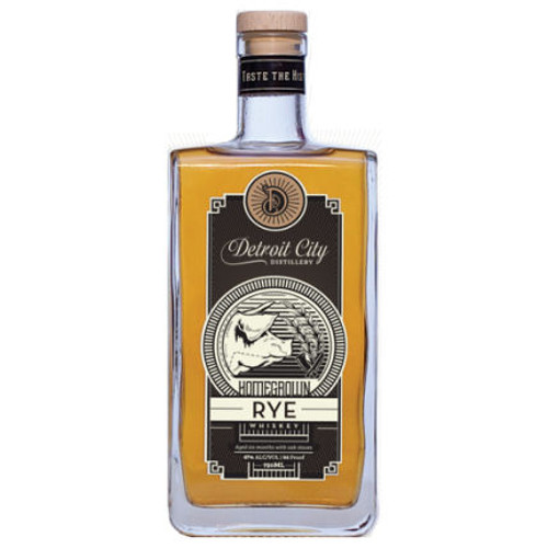 Detroit City Homegrown Rye Whiskey 750ml