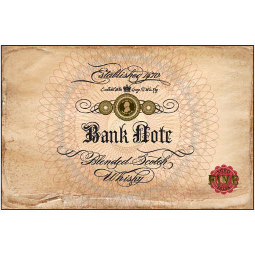 Bank Note 5 Year Old Blended Scotch Whisky 750ml