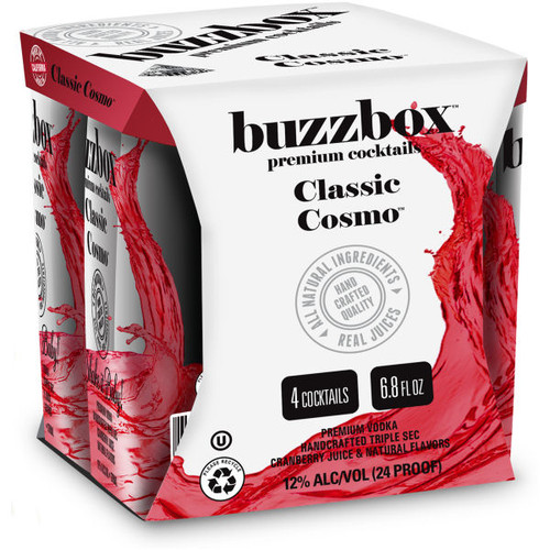 Buzzbox Classic Cosmos Cocktails 200ml 4 Pack