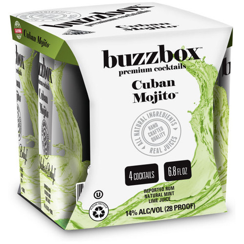 Buzzbox Cuban Mojito Cocktails 200ml 4 Pack