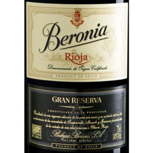 Beronia Gran Reserva Rioja Tempranillo Blend (Spain)
