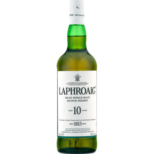 Laphroaig 10 Year Old Islay Single Malt Scotch 750ml