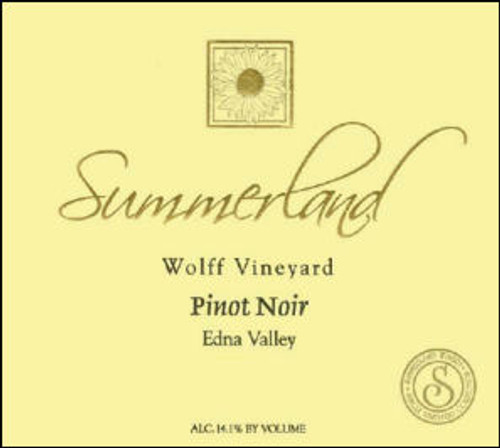 Summerland Wolff Vineyard Edna Valley Pinot Noir