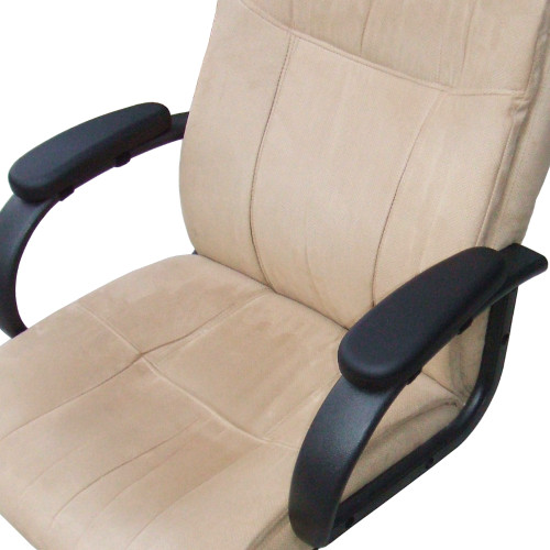 Velcro Style Strap-On Chair Arm Pads Installed On A Typical Office Chair