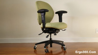 Ergo360 Ultimate Office Chair with Custom Upholstery, Rollerblade Casters, and Kahuna Armrest Pads