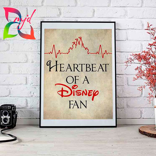 Heartbeat of a Disney Fan Print - Makes a great gift for the Disney lover in your life!