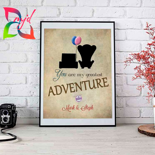 UP Inspired Print - You are my greatest adventure! - Free Personalization - Love, Family, Wedding