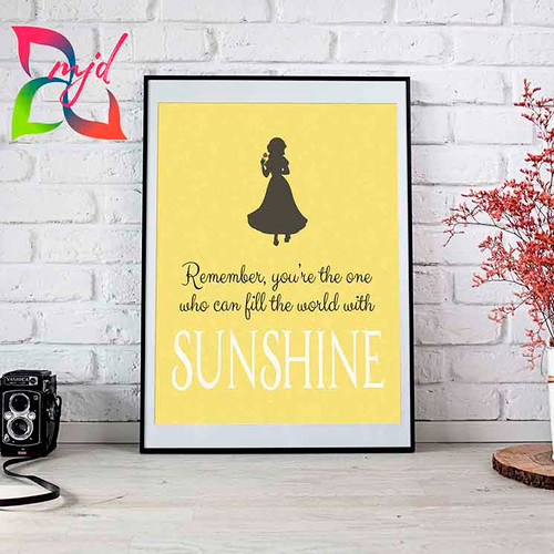 Snow White Print - Fill the world with Sunshine - Wall art, inspirational, wall decor