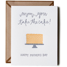 Mom Takes the Cake Greeting Card by Ink Meets Paper