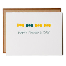 Father's Day Bow Tie Greeting Card - Ink Meets Paper