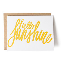 Hello Sunshine Greeting Card - Thimblepress