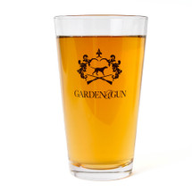G&G Signature Crest Pint Glass