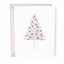 Aluminum Christmas Tree Greeting Card