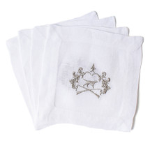 G&G Signature Crest Cocktail Napkins