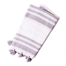 Striped Tassel Turkish Beach Towel