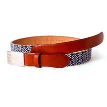 Deco Pineapple Needlepoint Belt Strap