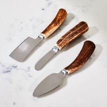 Antler Horn Cheese Knife Set by Vagabond House