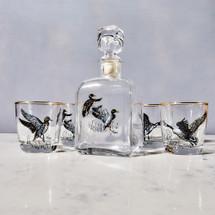 Waterfowl Decanter Set by Richard Bishop