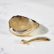 Shell Salt Cellar & Spoon by Gogo Jewelry