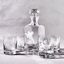 Pheasant Decanter & Glass Set by Julie Wear