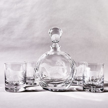 Crystal Labrador Decanter & Glass Set by Julie Wear