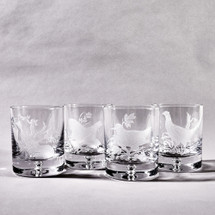 Pheasant Old Fashioned Glass Set by Julie Wear