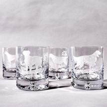 Labrador Old Fashioned Glass Set by Julie Wear
