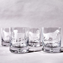 Labrador Old Fashioned Glass Set by Julie Wear
