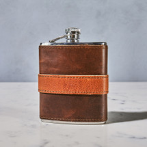 Leather-Wrapped Flask by Moore & Giles