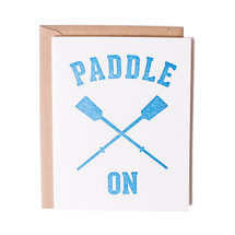 Paddle On Greeting Card