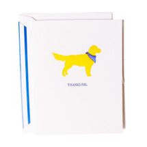 Good Dog Thank You Greeting Card - Blue